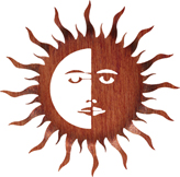 Sun moon wall art hanging