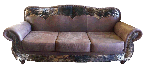 Hair on Hide Sofas with Yoke
