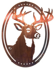 Wall hangings of deer