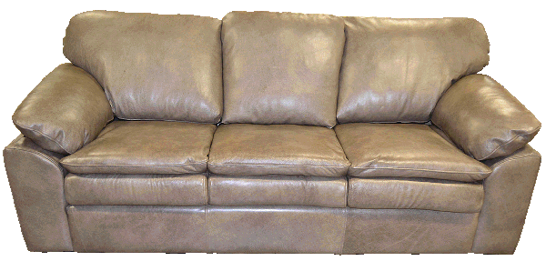 Genuine Full Grain Leather Couch