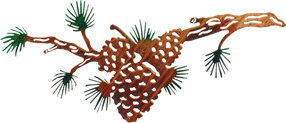 Pine cone branch wall art hangings