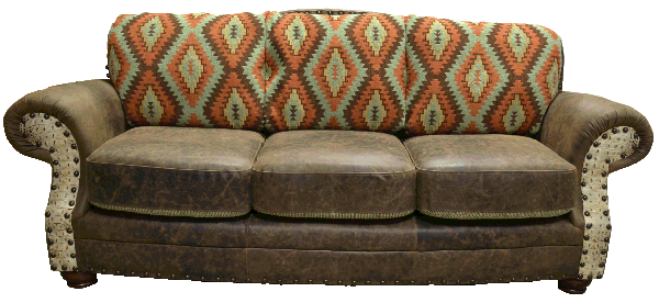Southwest pattern fabric sofas
