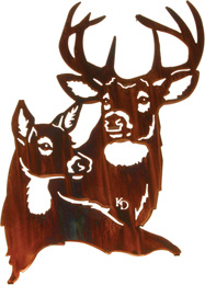 Buck and Doe wall art hanging