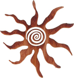 Sun Spirit Metal Wall Hanging
