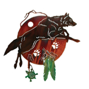 Dancing with Wolves Wall Art Hanging