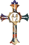 YOUNG PALS METAL WALL CROSS