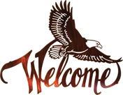 Eagle welcom sign