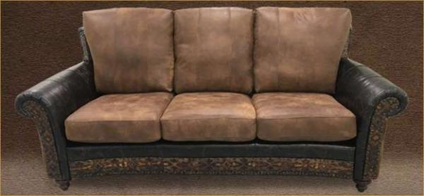 Rustic Country Western Sofas with exotic skins