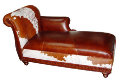 Cowhide Chaise Lounges