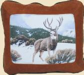 GO TO NATURE / WILDLIFE - WILDERNESS THEMES LEATHER DESIGNER COWHIDE THROW PILLOW ACCENTS