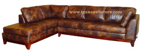 COWHIDE LEATHER COUNTRY WESTERN HOME FURNITURE / FURNISHINGS