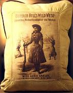 COUNTRY STYLE WESTERN THEME LEATHER DESIGNER PILLOWS / COWGIRLS - OLD WEST