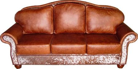 Country western cowhide sofas, couches